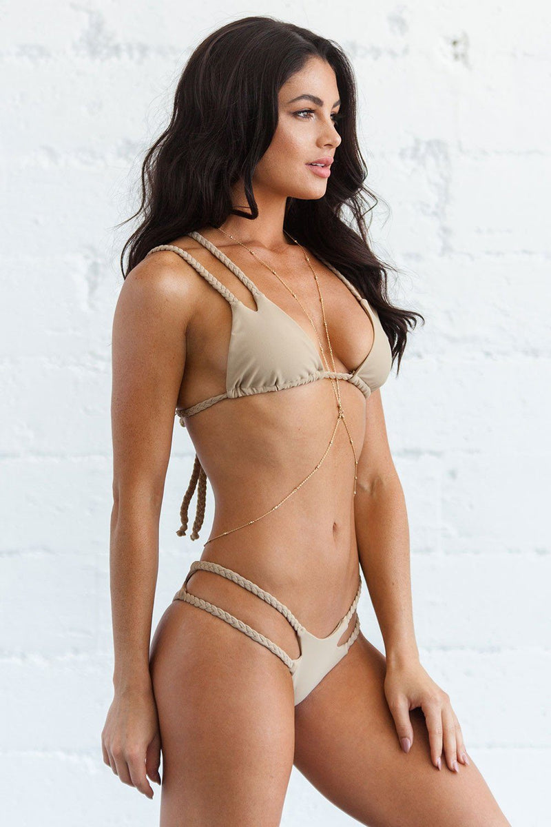 Orabella Top - Warm Sand - Beach Babe Swimwear
