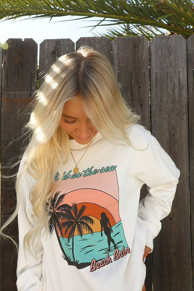 Wild As The Sea Cream Sweater