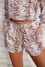 Wild and Free Shortie Natural Zebra