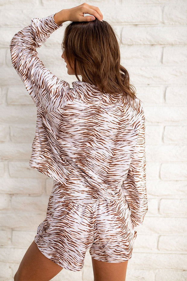 Wild and Free Pullover- Natural Zebra
