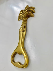 Brass Palm Tree Bottle Opener