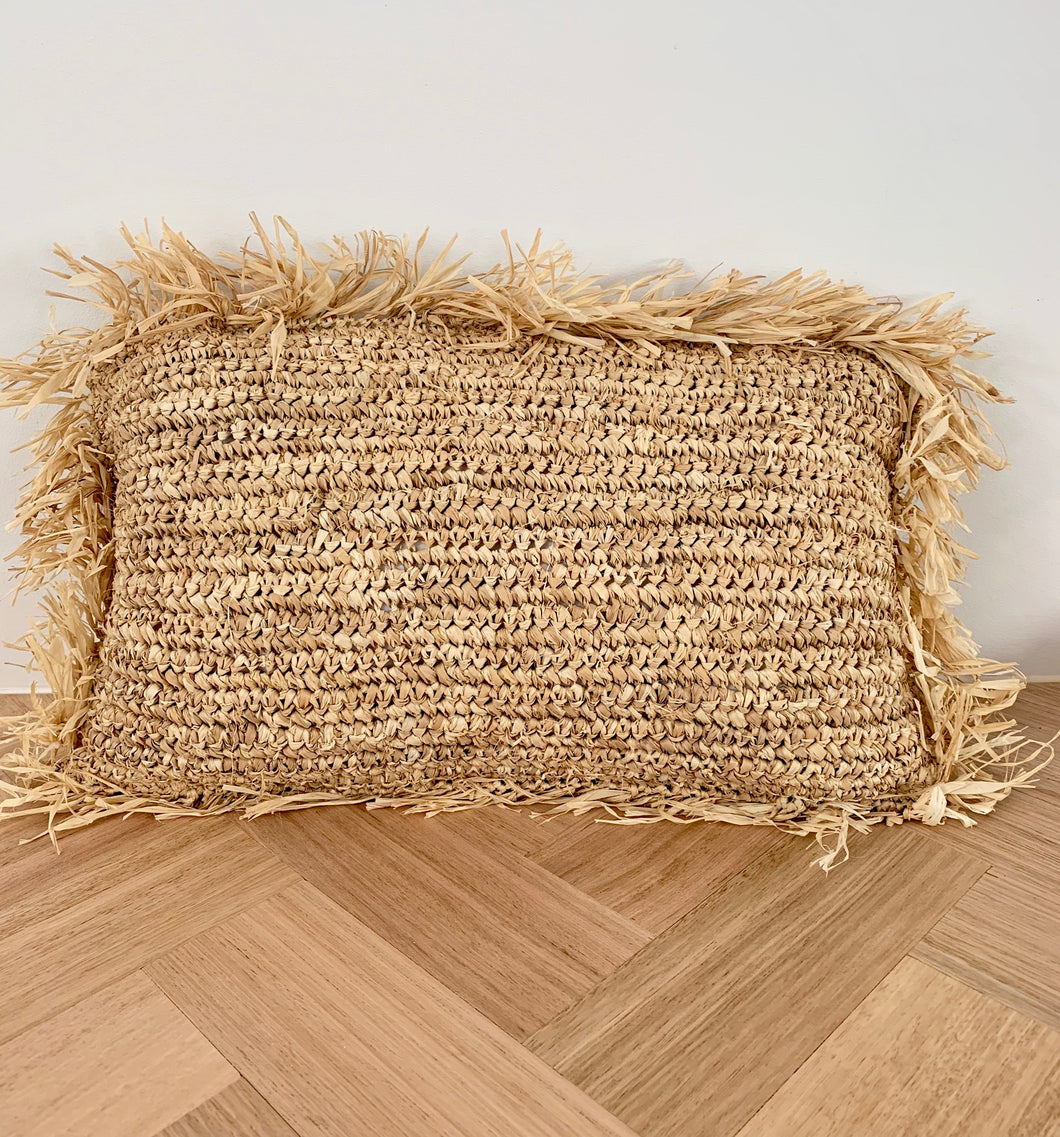 Rafia Cushion Cover / Natural