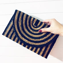 Load image into Gallery viewer, Striped Palm Leaf Clutch