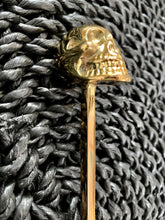 Load image into Gallery viewer, Brass Skull Long Teaspoon