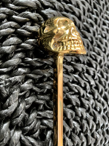 Brass Skull Long Teaspoon