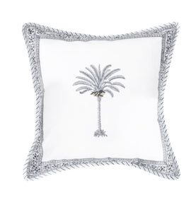 Black Palm Tree Cushion Cover