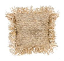 Load image into Gallery viewer, Rafia Cushion Cover/ Natural