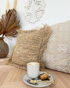 Linen embroidered Cushion Cover 55 x 55