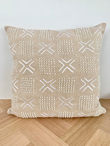 Linen embroidered Cushion Cover
