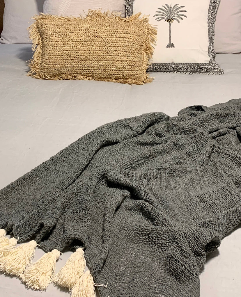 Willow Weave Grey Throw