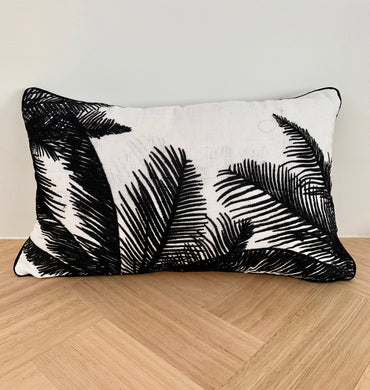 Palm Embroidered Cushion Cover