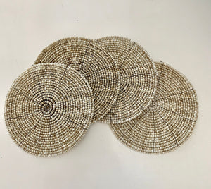 Beaded Coaster Set