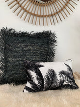 Load image into Gallery viewer, Rafia Cushion Cover/ Black