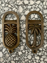 Load image into Gallery viewer, Brass Palm Tree Oval Bottle Opener