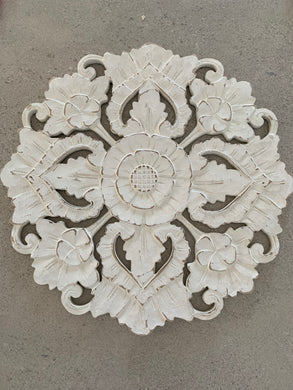 Hand Carved White Lotus