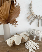 Load image into Gallery viewer, Whitewash Handcrafted Wooden Elephant Large