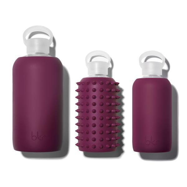 bkr Glass Water Bottle: 16oz SPIKED BITTEN 500 ML