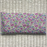Purple Flowers Liberty Eye Pillow for Relaxation, Yoga & Meditation (Non Scented or Organic Lavender)