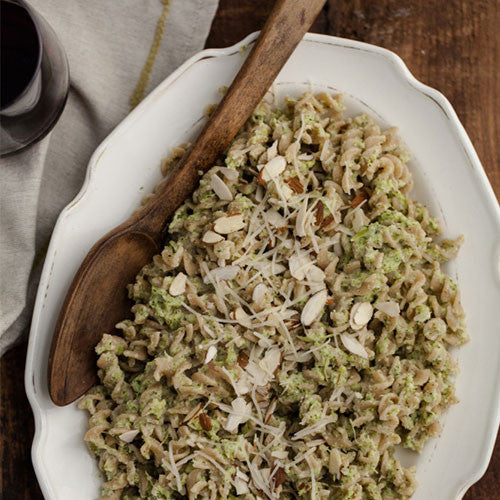Broccoli and Almond Pesto Pasta