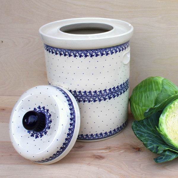 10 Liter Blue & White Fermenting Pot
