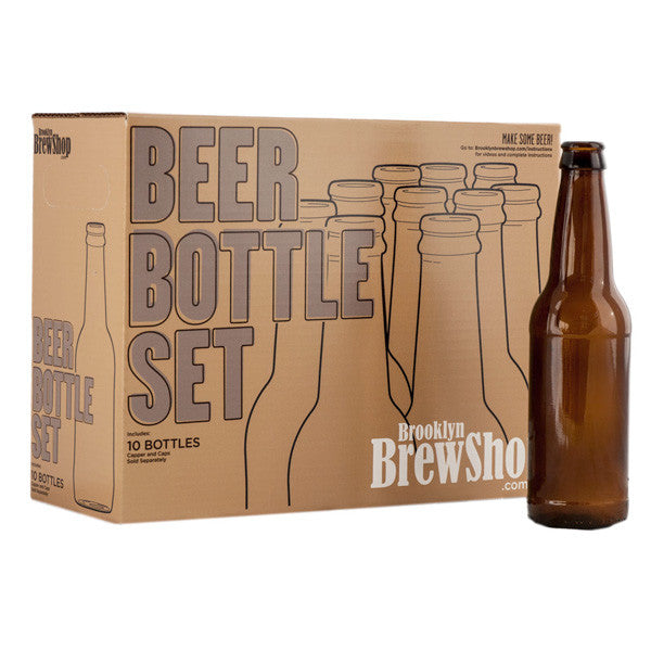 Glass Beer Bottle Set
