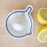 Blue & White Ceramic Citrus Squeezer