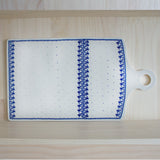 Blue & White Ceramic Cheese Platter
