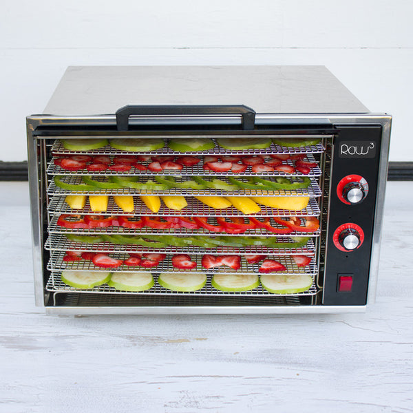 Raw Rutes - Raw Cubed 8 Tray Stainless Steel Dehydrator - Eating RED Edition - SCRATCH and DENT