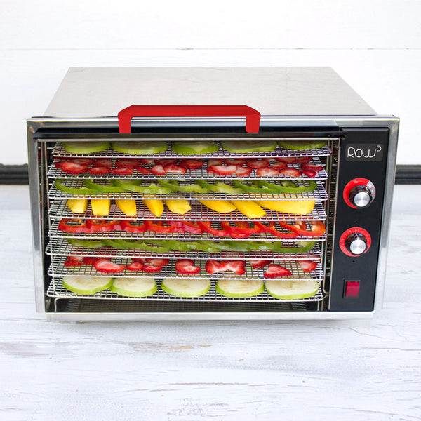 Raw Rutes - Raw Cubed 8 Tray Stainless Steel Dehydrator - Eating RED Edition