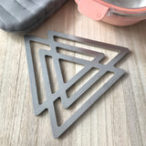 Geo Triangle Trivet - Stainless Steel Geometric Trivet