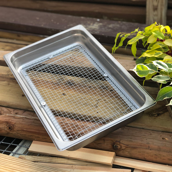 Stainless Garden Sifter - Compost, Dirt and Potting Soil