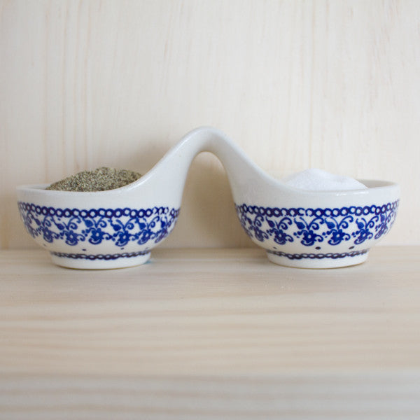 Blue & White Salt & Pepper Dishes