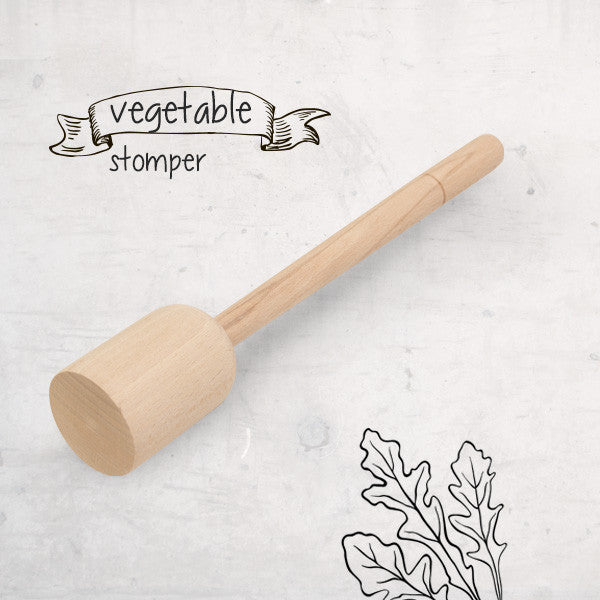 Wooden Vegetable Stomper-Tamper Packer-Pounder