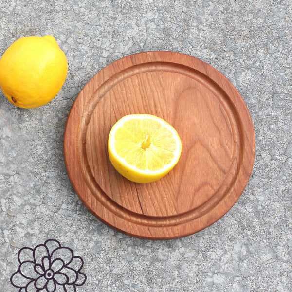 "7"" Reclaimed Cherry Board (Round)"
