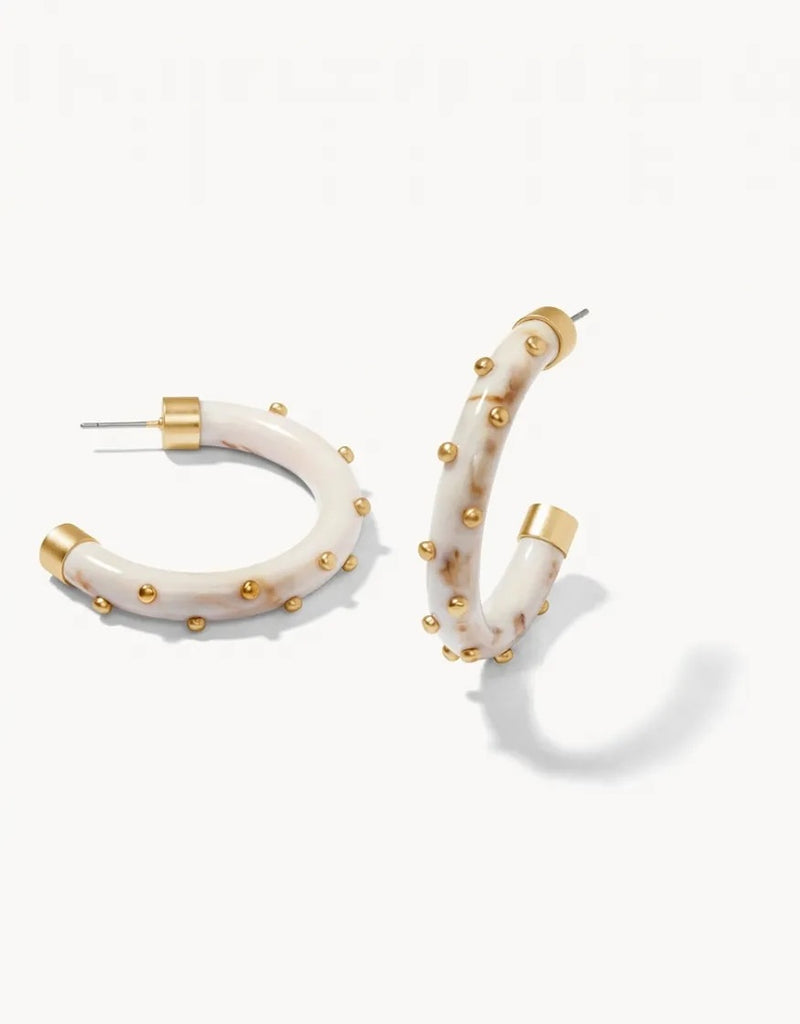 Harbor Resin Hoop Earrings by Spartina