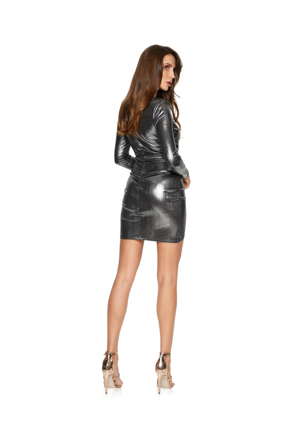 New-in, Main Collection, Estelle in Silver Shimmer Party Dress, Available in sizes S - L, Next day delivery in Dubai, Fast shipping in UAE and international shipping available. Hi Maintenance - Online women's fashion boutique in United Arab Emirates.