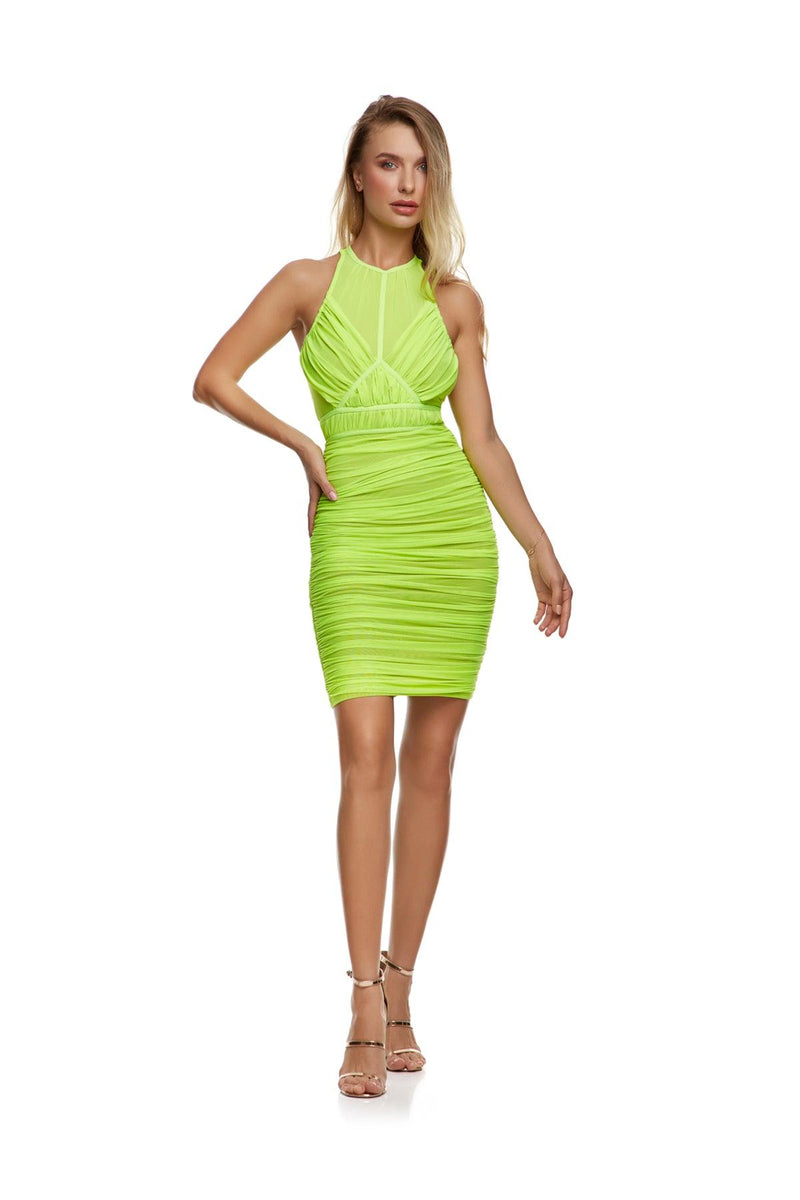 New-In, Main Collection, Alice dress in Green mesh fabric, Available in sizes XS-L, Next day delivery in Dubai, Fast shipping in UAE and international shipping available. Hi Maintenance - Online women's fashion boutique in the United Arab Emirates.