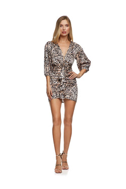 New-In, Main Collection, Irina Dress, Animal print, satin fabric, Available in size S-L, Next day delivery in Dubai, Fast shipping in UAE and international shipping available. Hi Maintenance - Online women's fashion boutique in United Arab Emirates.