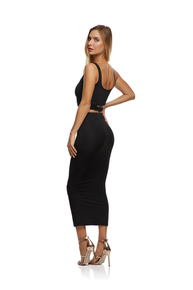 New-In, Main Collection, Lily Set, Black, stretch fabric, Available in size S-L, Next day delivery in Dubai, Fast shipping in UAE and international shipping available. Hi Maintenance - Online women's fashion boutique in United Arab Emirates.