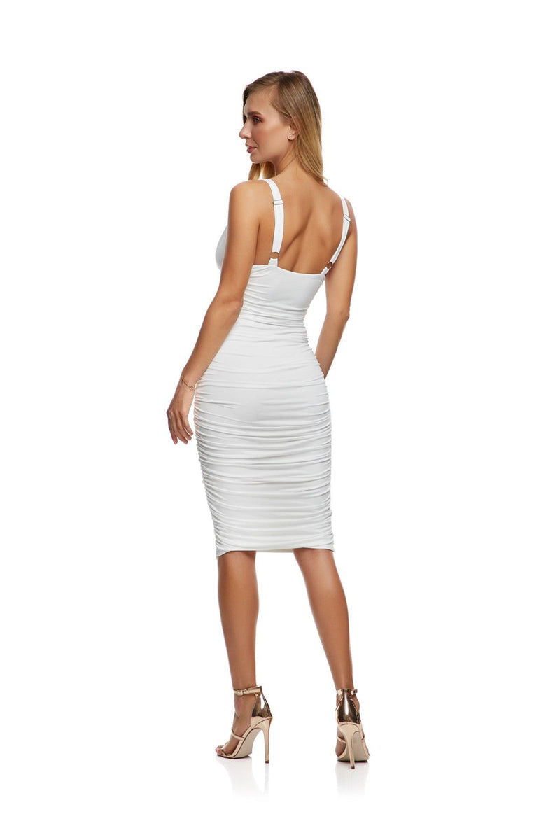 New-In, Main Collection, Pearl Dress, White, double lined stretch fabric, Available in sizes XS-L, Same day and Next day delivery in Dubai, Fast shipping in the UAE and international shipping. Hi Maintenance - online women's fashion boutique in United Arab Emirates.