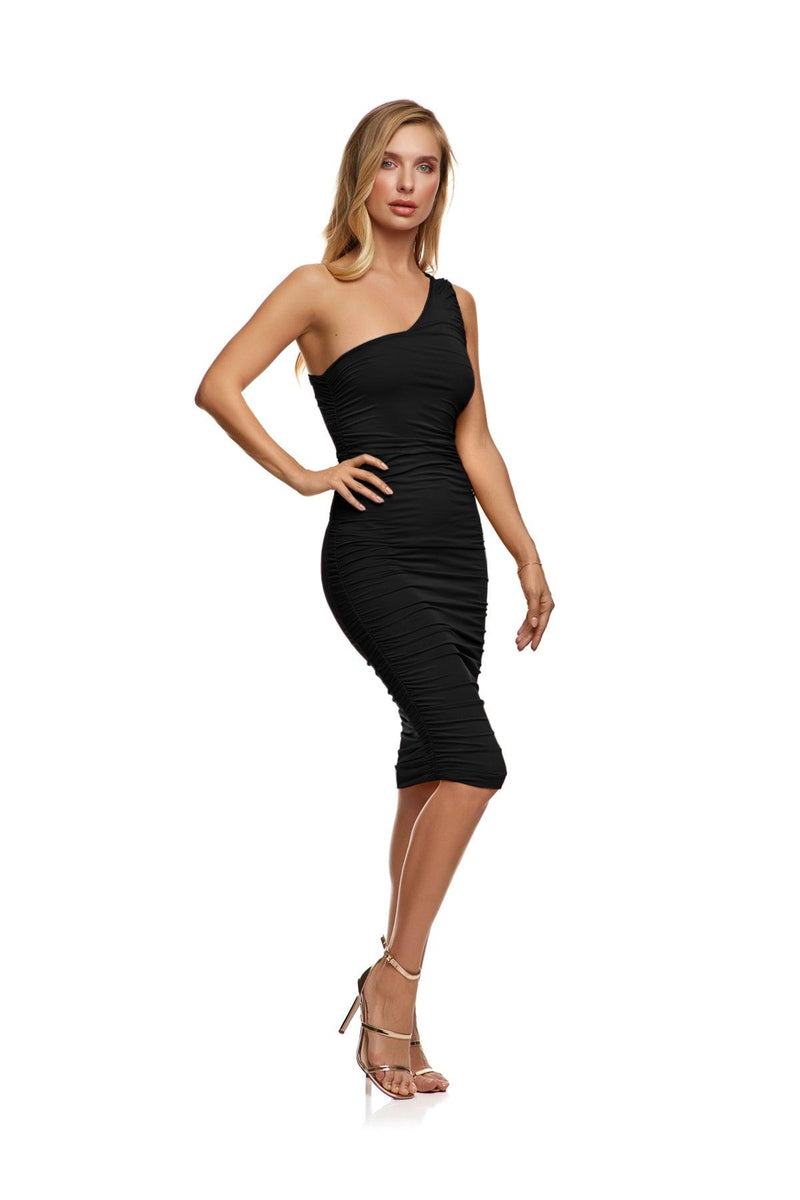 New-In, Main Collection, Ruby Dress, Black, double lined stretch fabric, Available in sizes XS-L, Next day delivery in Dubai, Fast shipping in UAE and international shipping available. Hi Maintenance - Online women's fashion boutique in United Arab Emirates.