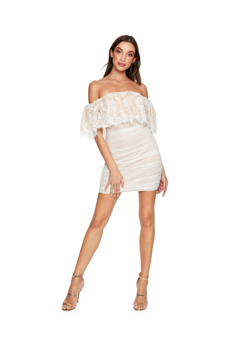 New-in, Main Collection, Lauren in White Lace Dress, Available in sizes XS - L, Same day and Next day delivery in Dubai, Fast shipping in UAE and international shipping available. Hi Maintenance - Online women's fashion boutique in United Arab Emirates.