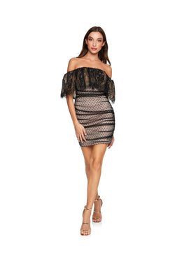 New-in, Main Collection, Lauren in Black Lace Dress, Available in sizes XS - L, Next day delivery in Dubai, Fast shipping in UAE and international shipping available. Hi Maintenance - Online women's fashion boutique in United Arab Emirates.