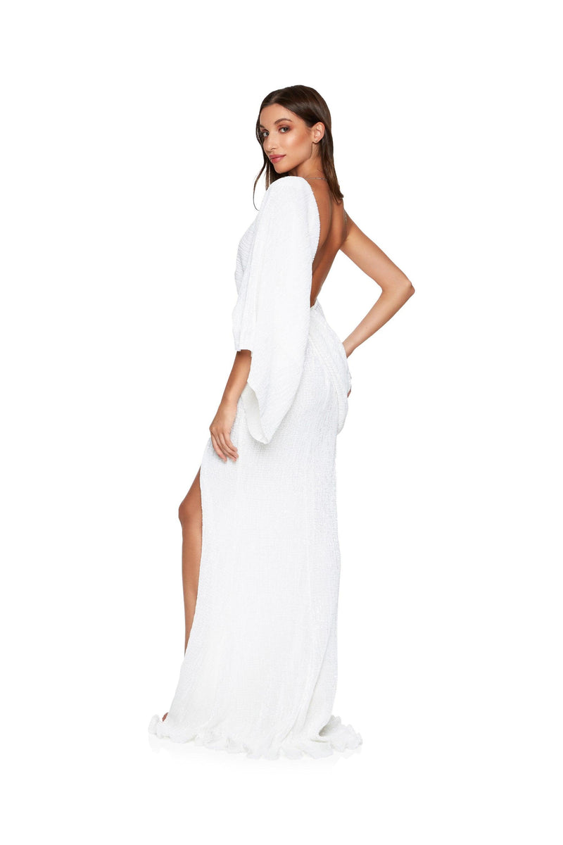 New-in, Luxe Collection, Lisa Gown in White Sequin, Available in sizes XS - L, Same day and Next day delivery in Dubai, Fast shipping in UAE and international shipping available. Hi Maintenance - Online women's fashion boutique in United Arab Emirates.