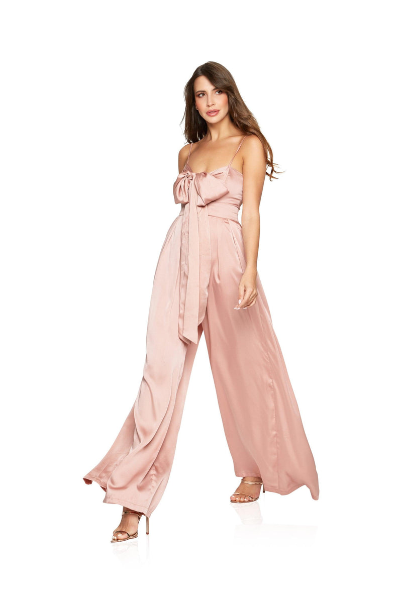New-in, Main Collection, Sarah in Pink Satin Jumpsuit, Available in sizes XS - L, Same day and Next day delivery in Dubai, Fast shipping in UAE and international shipping available. Hi Maintenance - Online women's fashion boutique in United Arab Emirates.