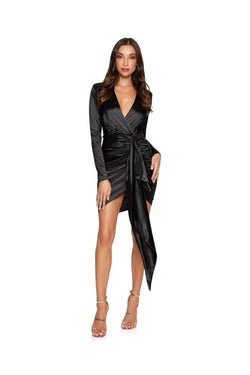 New-in, Main Collection, Victoria in Black Satin Evening Dress, Available in sizes S - L, Same day and Next day delivery in Dubai, Fast shipping in UAE and international shipping available. Hi Maintenance - Online women's fashion boutique in United Arab Emirates.