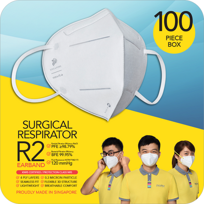 Special Deals for PAIRC: Surgical Respirator R2 Earband (100pcs in a box)