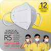 Surgical Respirator R5 Earband FFP2 (12pcs) with 1 bottle Anti-Bac Spray