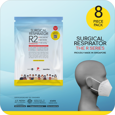 Exclusive Deals for our Singapore Heroes ! Surgical Respirator R2 Earband (8pcs)
