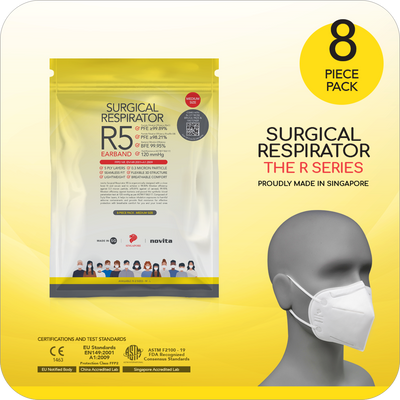 Surgical Respirator R5 Earband FFP2 (8pcs)